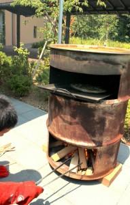 ドラム缶オーブン