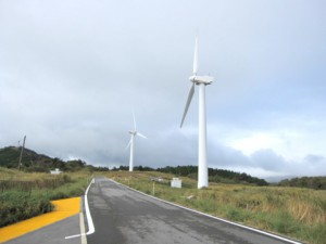 東伊豆町の風力発電所